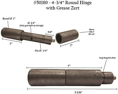 "ONE  4/""x1/"" Barrel Hinge with Sleeve 50179"