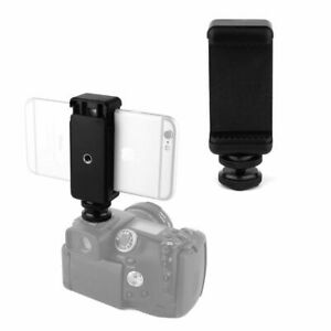 Cell Phone Stand Bracket Clip with Hot Shoe Screw Adapter Tripod for Camera *DC
