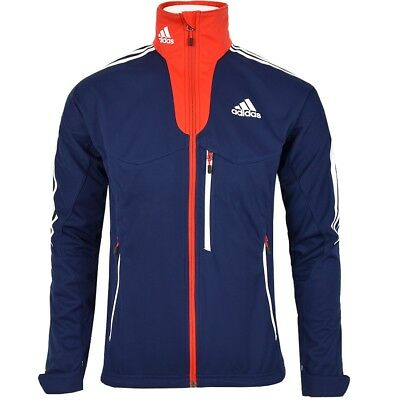 Adidas Softshell Jacke Great Britain Herren Athletic Jacket Men England Navy/rot