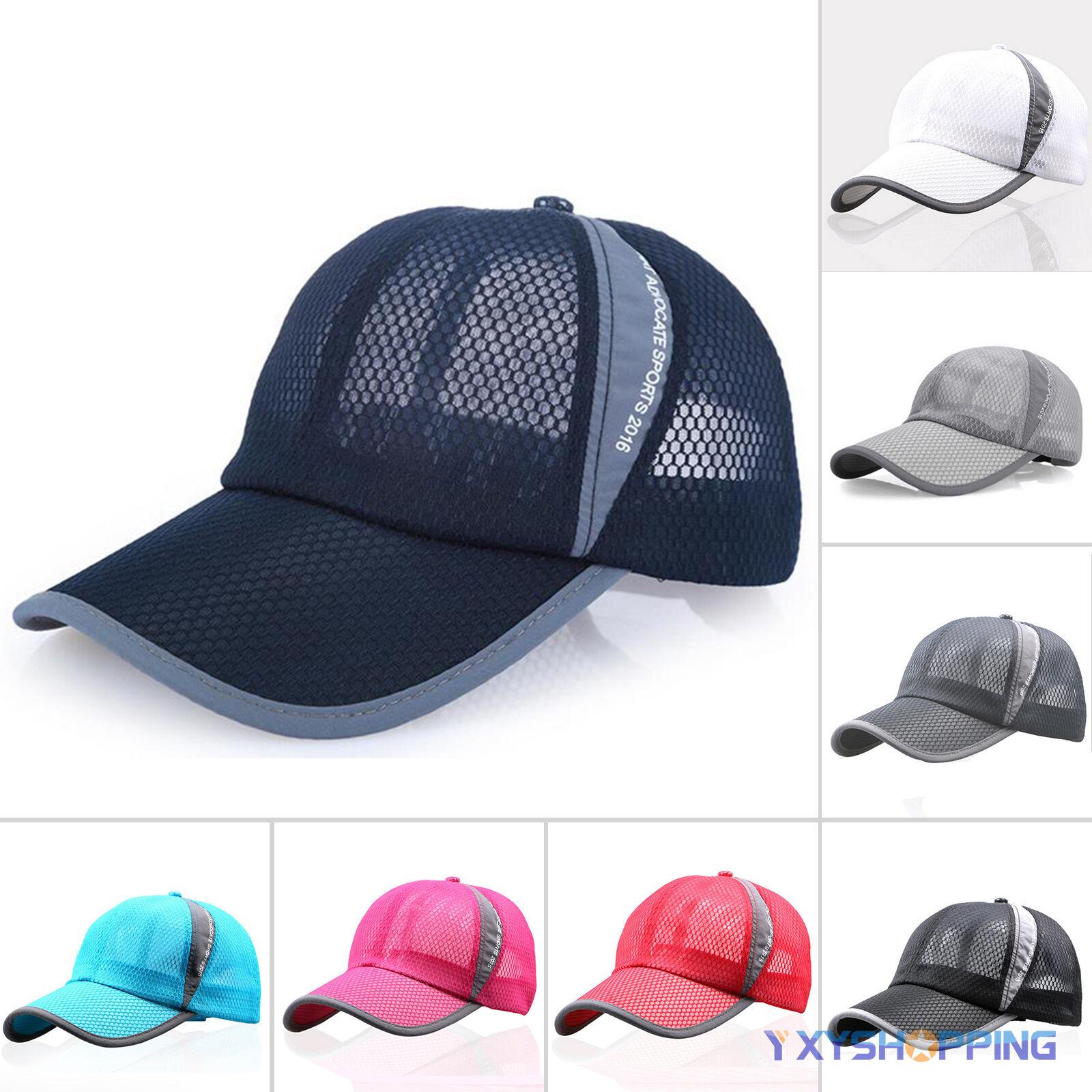 Dame Herre Mesh Baseball Cap Kappe Sommer Truckercap Sport Atmungsaktiv Hüte Hut