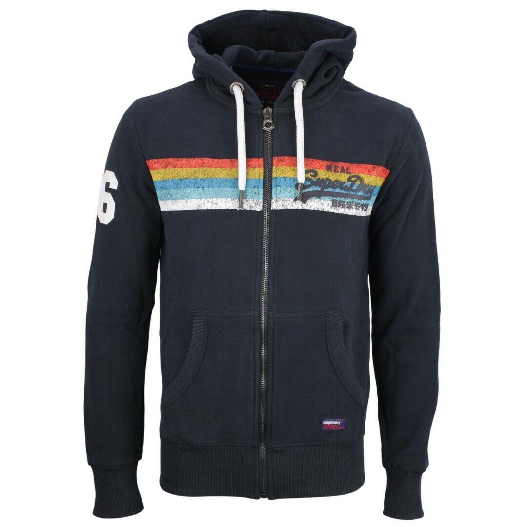 Superdry Herren Sweat Jacke Vintage Logo Cali blau M20989NT 98T navy