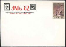Australia 22c Grey Kangaroo Optd Anpex 82 Pre-Paid Envolope Cover Unused #C18716