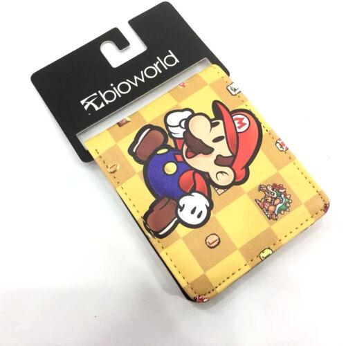 Mann Geldbörse Geldbeutel Portmonee Brieftasche Game Super Mario Bros
