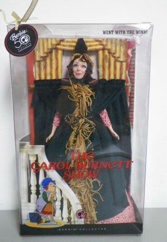 "NEW BARBIE WENT WITH THE WIND CAROL BURNETT SHOW DOLL 50TH ANNIVERSARY 12"" TALL"