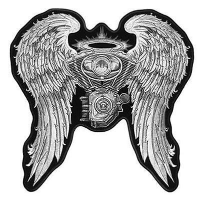 large JUMBO ENGINE WINGS ANGEL JACKET BACK PATCH JBP26 EMBROIDERED angels NEW