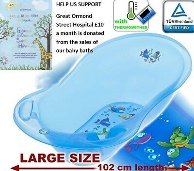 Aqua Lux Large 102cm Baby Bath Tub with Thermometer by Tega Baby Green