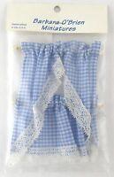 Blue Gingham Kitchen Curtains Dollhouse Decor - Handley House Bb50603