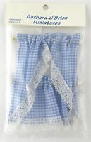 Blue Gingham Kitchen Curtains Dollhouse Decor - Handley House Bb50603
