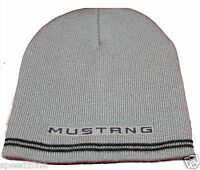 Ford Mustang Gray Beanie Cap Adult Sizing