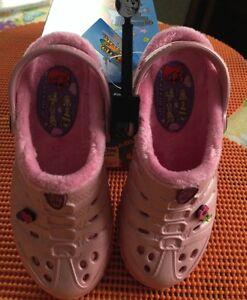NEW-Skechers-Cali-Gear-Girls-Slip-on-Darling-Shoes-Size-4-Light-Pink-Free-Bits