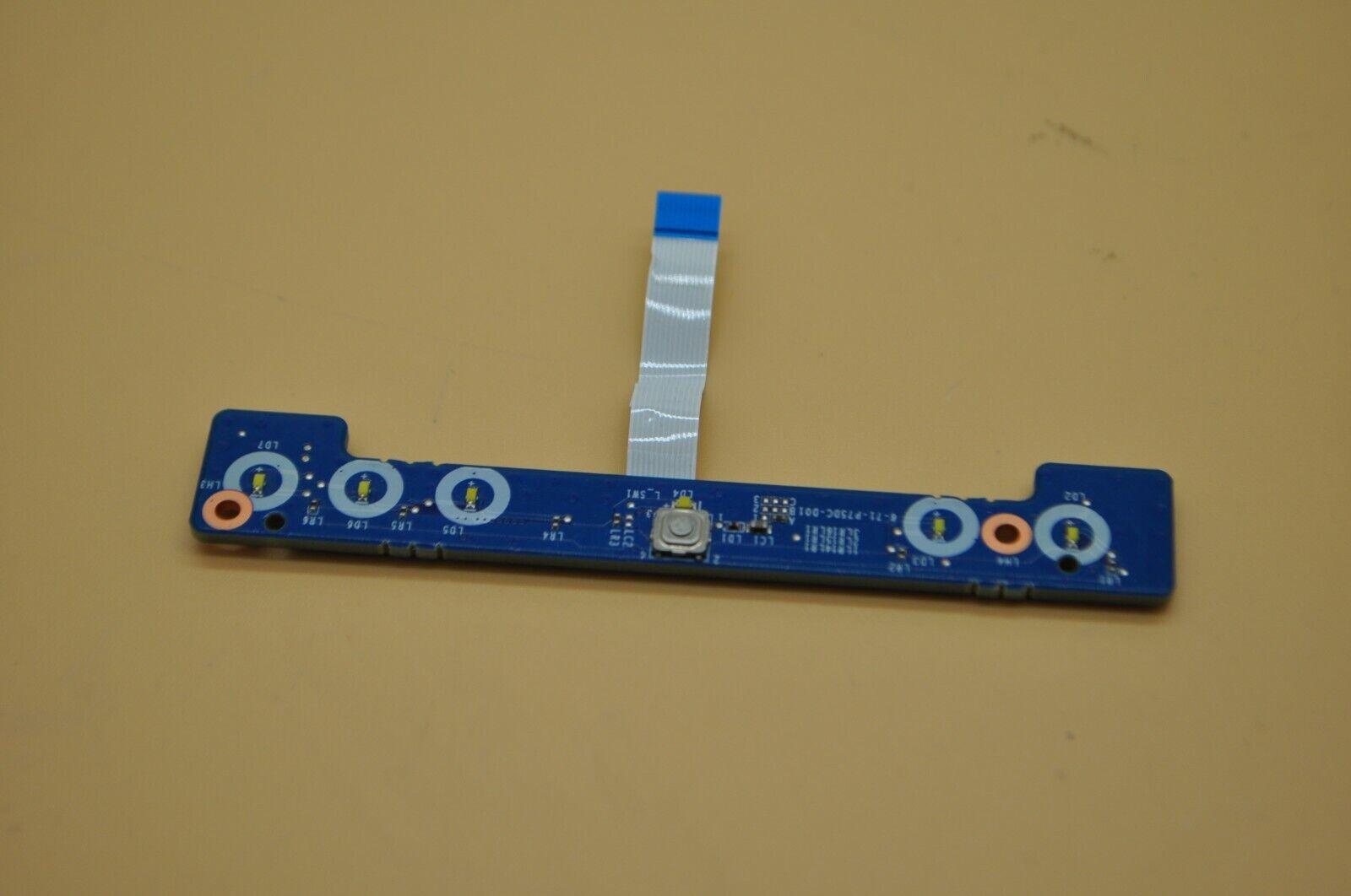 Clevo P771DM P771 Series LED & Power Button Board w/ Cable -44E
