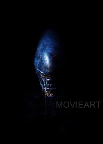 ALIEN COVENANT TEXTLESS BLUE POSTER FILM A4 A3 A2 A1 CINEMA MOVIE PRINT ART