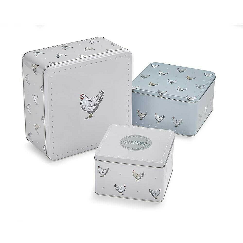 """Home Sweet Home/"""" Set Of 3 Storage Tins Cake All Chic /""""Keep Life Simple"""