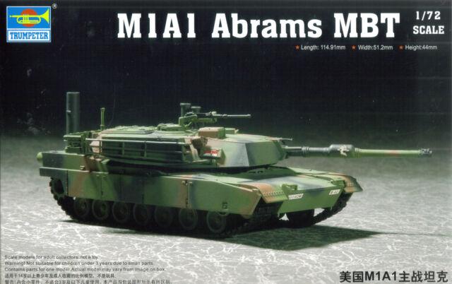 Trumpeter 1/72 (20mm) M1a1 Abrams Mbt