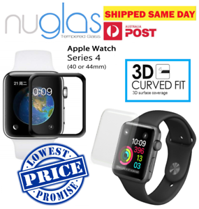 official photos a5a19 0a667 Details about Genuine Nuglas 3D Full Cover Curved Tempered Glass Screen  Protector Apple Watch