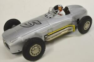 1950-Marx-Linemar-Mercedes-race-car-Japan-5-Silver-Arrow-1-of-kind-restore-10-034