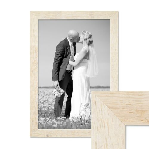 Picture Frame Set Beach House Wood Rustic Oak Brown White Grey Photo Frame