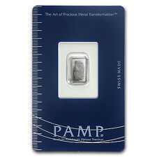 1 gram Palladium Bar - PAMP Suisse (In Assay) - SKU #96239
