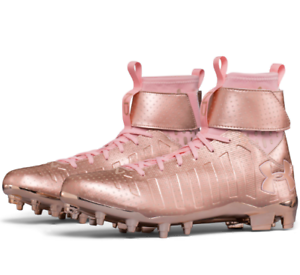 191d6236b120 Under Armour C1N MC Football Cleats Rose Gold Cam Newton Limited ...