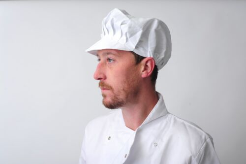 BAKER CAP POLYCOTTON BAKERY HAT PROFESSIONAL CATERING CHEF CAP - VARIOUS COLOURS