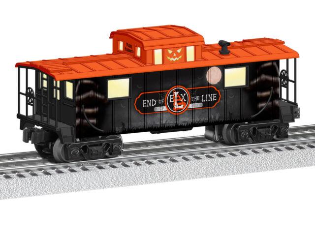 LIONEL ELX HALLOWEEN LIGHTED CABOOSE O GAUGE train pumpkin skeleton 6-84781 NEW