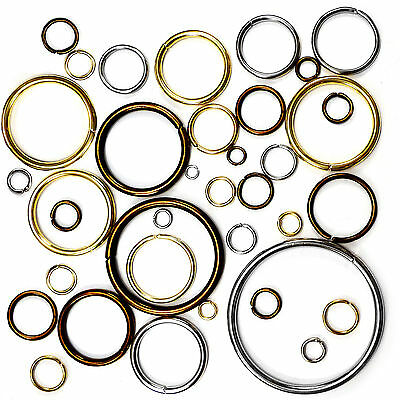 O rings metal steel collars craft 5 7 9 12 15 20 29 31 37 39 50 69 mm