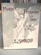 MORIR PENSANDO EN DIOS Pequena fantasia pura piano L Sambucetti Breyer 1911