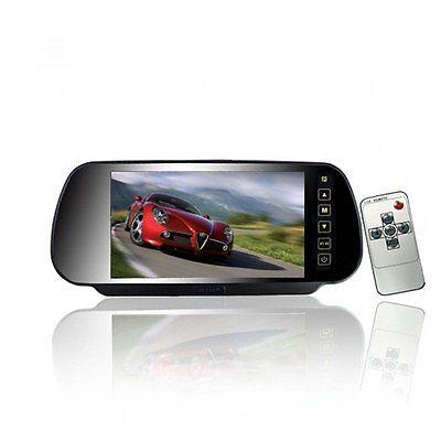 "12V/24V 7"" HD Car Truck LCD Backup Monitor 800*480 In-Mirorr Screen Rear View"