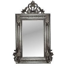 Wandspiegel Silber Oval Antik Groß XXL 110x70 Barock Flurspiegel RokokoStil
