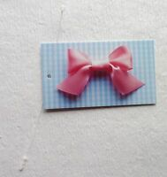 100 Boutique Fashion Tags/accessories Tags Cute Blue/pink Bow W/self-lock Loops