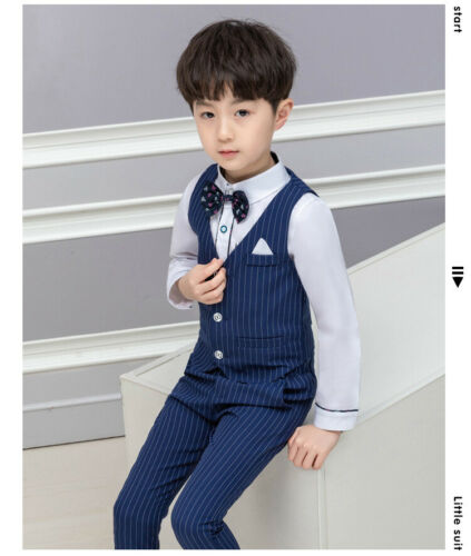 Boys Suits 3 Piece Wedding Suit Prom Page Boy Baby Formal Party 2 Colours