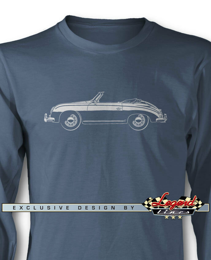 Porsche 356 Pre-A Congreenible Long Sleeves T-Shirt - Multiple colors and Sizes