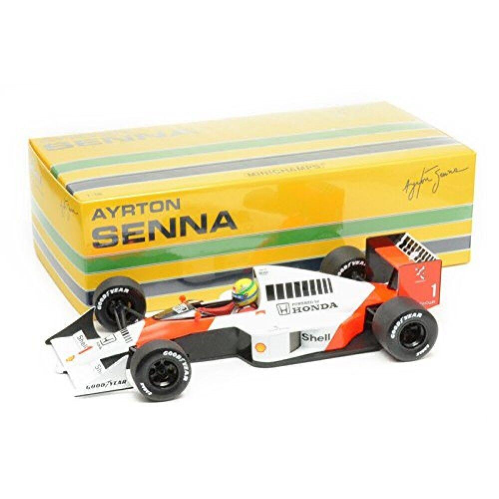 Formule 1 F1 1 18 McLaren Honda Pistolets mitrailleurs 4 5 1989 Ayrton Senna collection minichamps