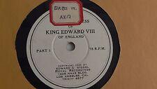 King Edward VIII -  78rpm single 12-inch - Stodel Royal #F-101-2