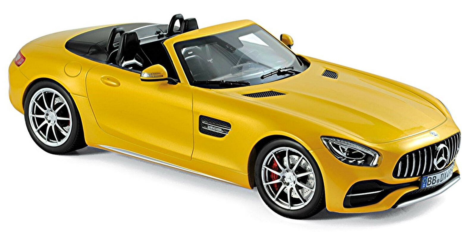 Mercedes-AMG GT C Roadster 2017 Jaune jaune Metallic 1 18 Norev