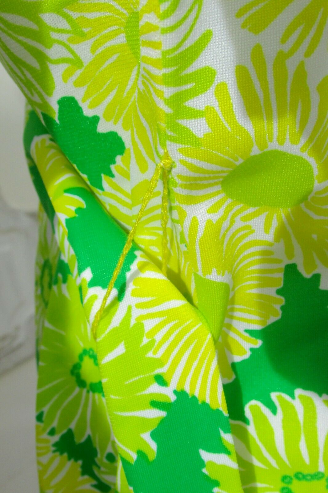 GREEN NEON VTG 70's Swimwear Cover Up-Perfection … - image 6