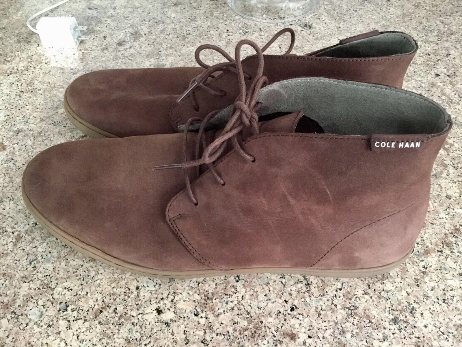 Cole Haan Mens Pinch Weekender Chukka Boot shoes Brown Suede Sz 11.5 M
