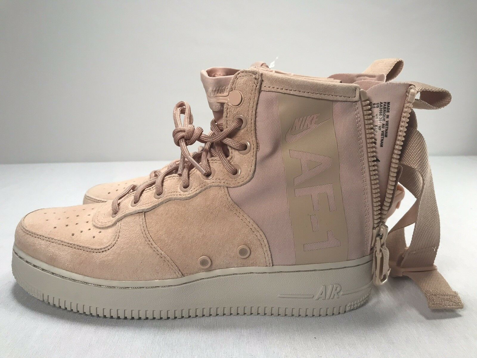 Nike SF Air Force 1 Mid Suede Coral Stardust Special Forces Size 9.5  AJ9502-600