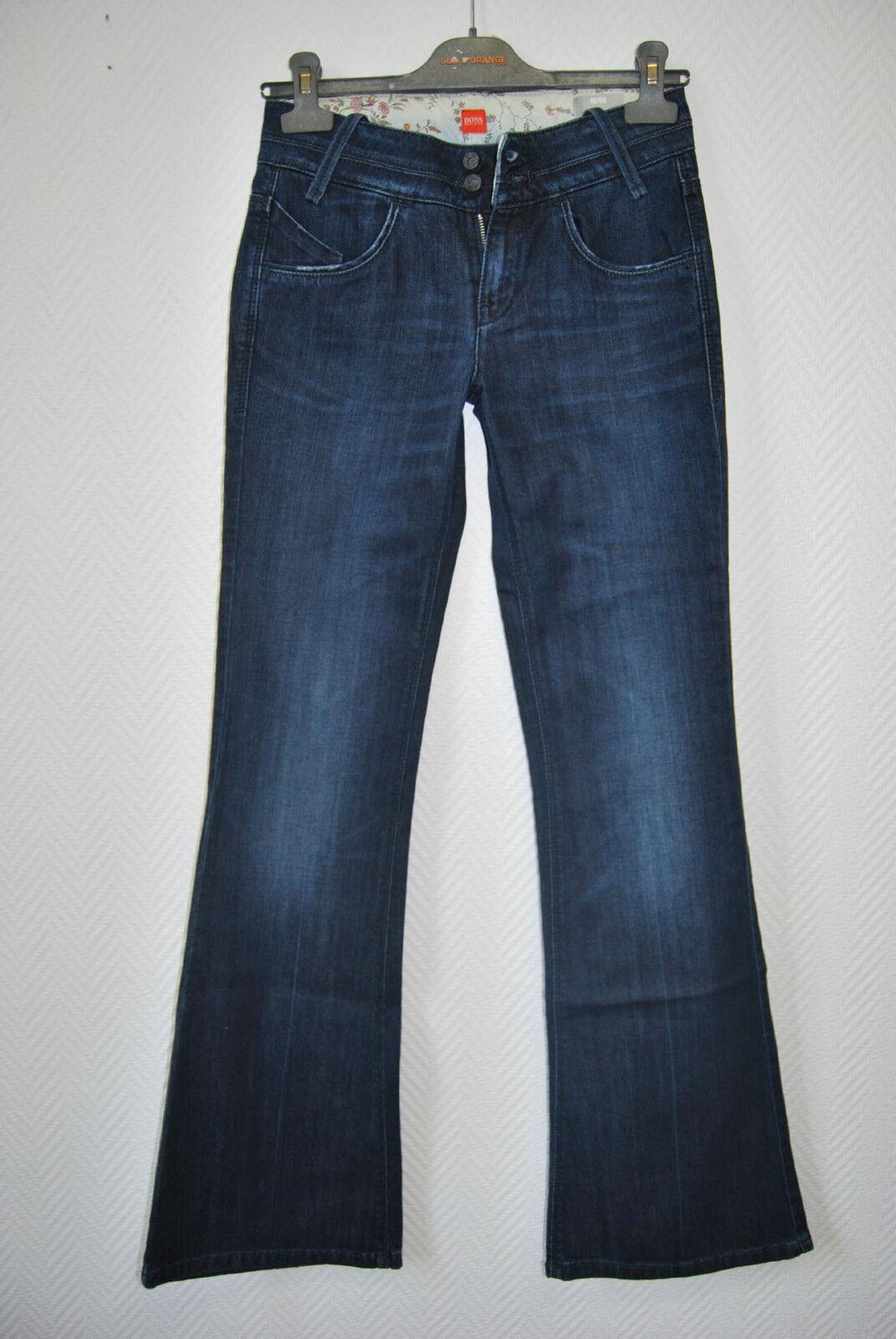 HUGO BOSS Jeans Gr 34 36 Hose Damen 26 32 EDEL dunkelblau 179,- STRETCH D1307