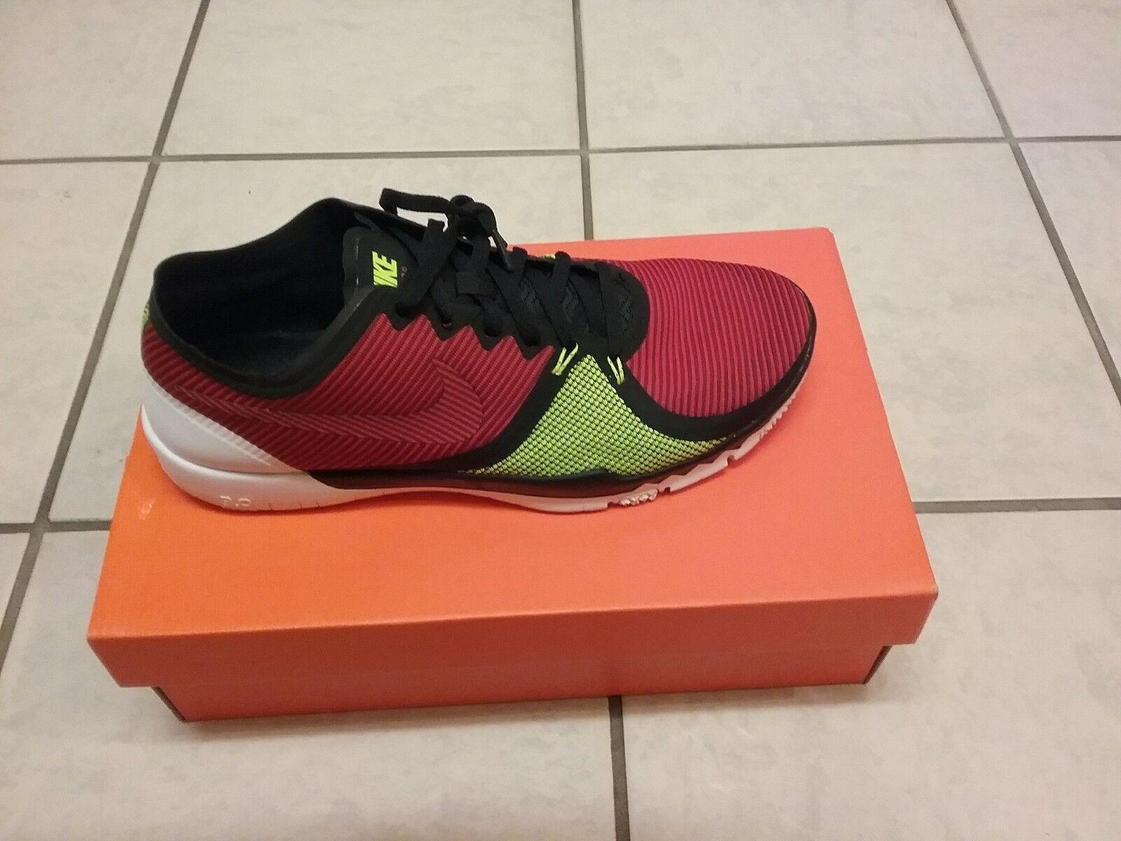 the latest 62b71 f6ec8 NEW NEW NEW Nike Free Trainer 3.0 V4 Training shoes Black Red Volt Sz 9  ca2de9