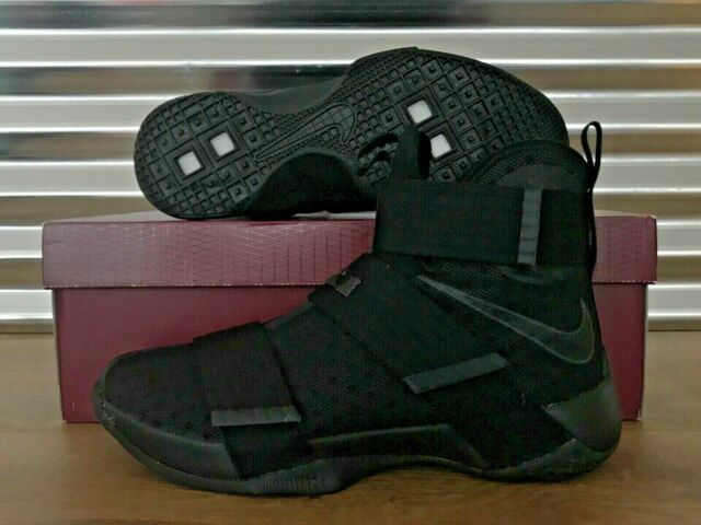 new styles 8d755 12333 Nike Lebron Soldier X 10 Basketball Shoes Triple Black Space SZ (  844374-001 )
