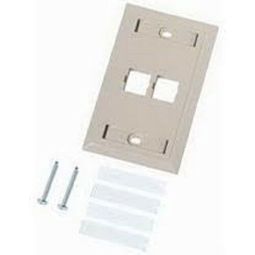 SYSTIMAX M14L-262 FACEPLATE w//ID 4-PORT WHITE 4//Pk Original Packaging