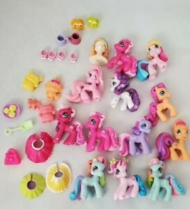 My Little Pony Lot Of 12 Ponyville With Accessories Clothes Hair Pvc Figure Ebay