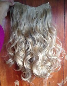 medium blonde 5 clips one piece wavy curly 22034 long clip in on hair extension - Slough, United Kingdom - medium blonde 5 clips one piece wavy curly 22034 long clip in on hair extension - Slough, United Kingdom