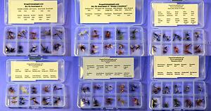 6 Kits !! Master DRY Fly Assembly 120 Fly in Organized Kits FREE SHIPPING!!
