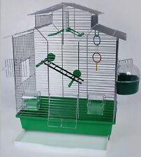 Vogelkäfig, Käfig, Wellensittich, Finken Iza II inkl. Zubehör in grün