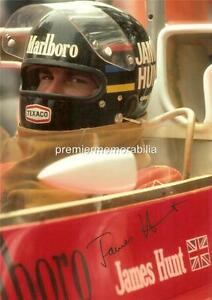 JAMES HUNT FORMULA 1 WORLD CHAMPION 1976 BRITISH GRAND PRIX SIGNED (PRINTED)