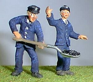Loco-Crew-Engine-Driver-Fireman-OF17-UNPAINTED-O-Scale-Langley-Models-Figures