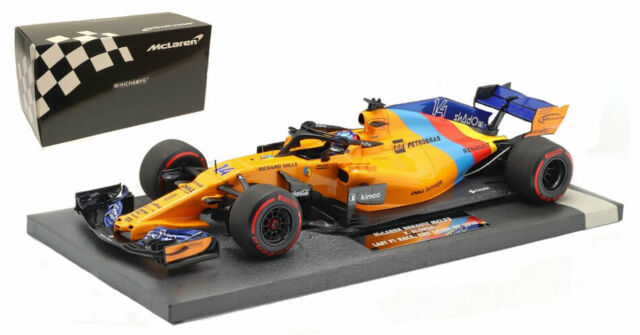 Minichamps McLaren MCL33 #14 Abu Dhabi GP 2018 - Fernando Alonso 1/18 Scale
