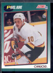 VANCOUVER-CANUCKS-1991-92-SCORE-ROOKIE-TRADED-TEAM-SET-4-CARDS-PAVEL-BURE